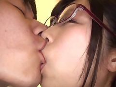 Strong sexual pleasures in threesome for Katou Honoka